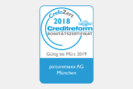 "Certificate of Reliability ""CrefoZert"" by Creditreform"